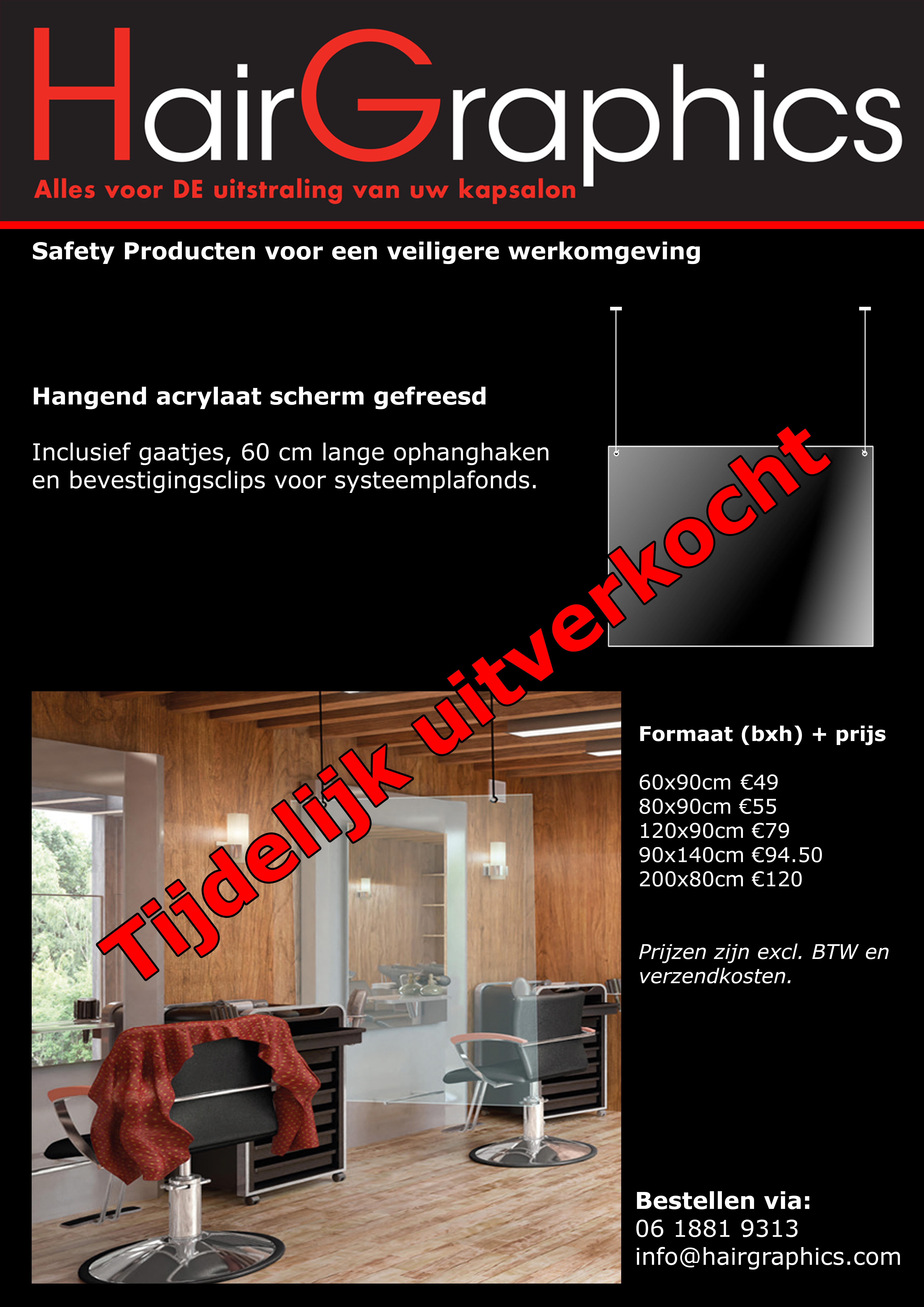 Preventie scherm acrylaat hangend
