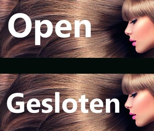 Open Gesloten Bordje