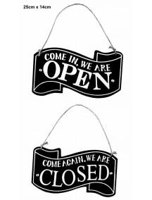 NIEUW - Open / Gesloten bordje - zwart