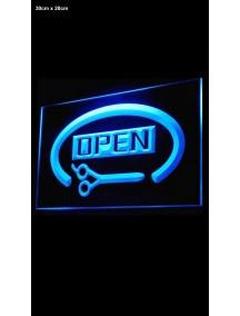 NIEUW - Open bordje - LED blauw 3D gegraveerd