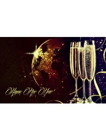 Banner BXM-0024 130x80cm Happy New Year