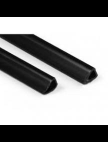 Bande d'affiche en plastique zwart